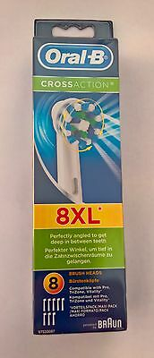 Oral-B Cross Action Replacement Electric Toothbrush Heads 8 Pack