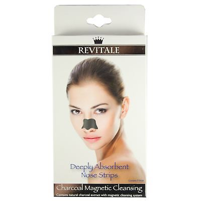 Revitale Deeply Absorbent Charcoal Magnetic Blackhead Pore Unlcog Nose Strips
