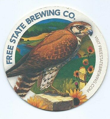 Free State Brewing Co. coaster 4 in dia. #2102
