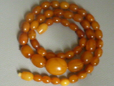 Bernsteinkette, antique amber necklace butterscotch