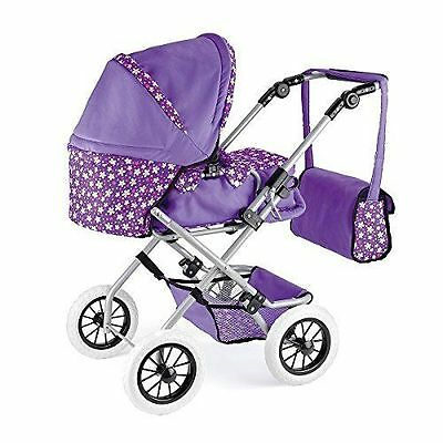 Snuggles Deluxe Dolls Pram Buggy Pushchair With Kids Play Set Storage Bag TY3292