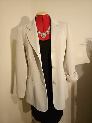 Vintage Cream Blazer Size 12 Ladies