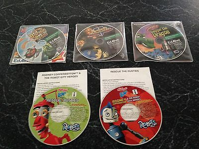 Numbers Up Volcanic Panic, Baggin The Dragon, Typing Tournament Educational CDs