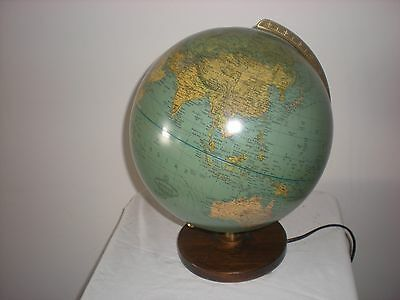VINTAGE GERMAN ILLUMINATED WORLD GLOBE 1970,s STUNNING PAUL OESTERGAARD EXAMPLE