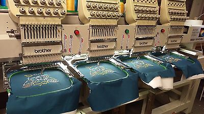brother commercial embroidery machine BES-1240bc 4 head 12 needle like