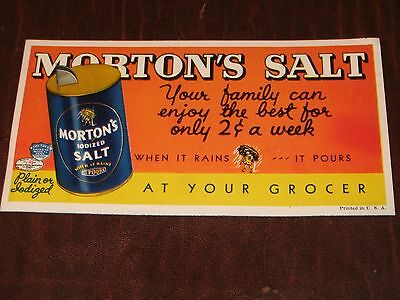 Morton's Salt Advertising Piece