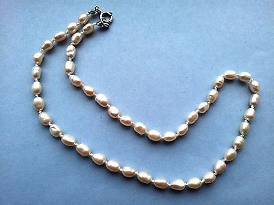 """Hand knotted freshwater pearl necklace 44.5mm (17.5"""")"""