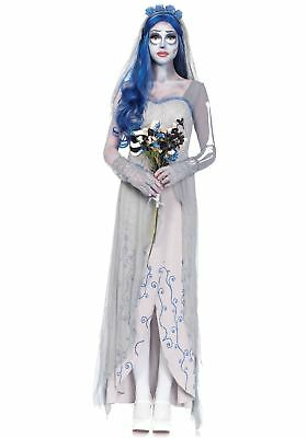 Adult Official Tim Burtons Corpse Bride Costume: Medium/Large (UK 10-12)