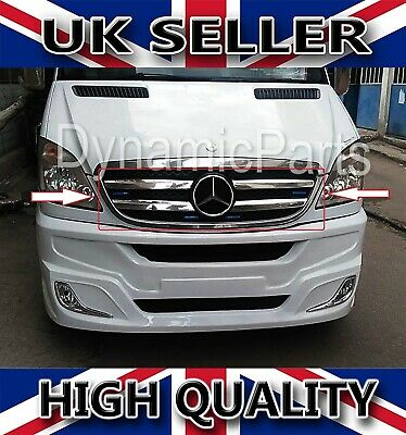 Mercedes Benz Sprinter W906 Chrome Front Grill Cover 4Pcs Stainless Steel