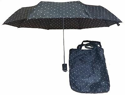 Fashion Polka Dot Black and White Umbrella w/Tote