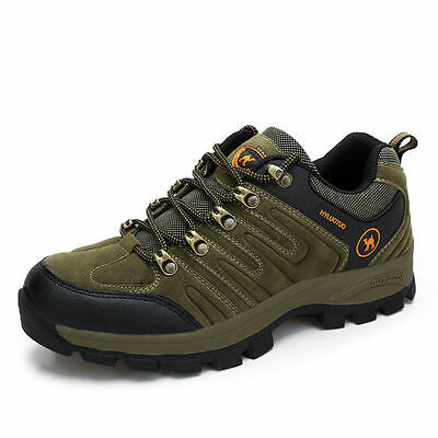 Mens Walking Hiking Trail Waterproof Ventilated Work Shoes Brown size 9.5 9 8.5