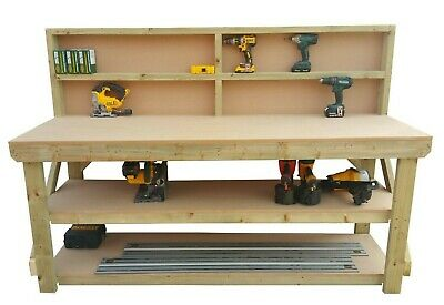 MDF Wooden Work Bench - 4Ft to 8Ft- Work Table - Hand Made - Strong Heavy Duty