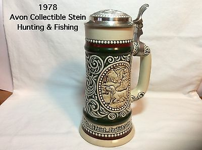 1978 Avon Hunting & Fishing Stein-Handcrafted In Brazil-item #1