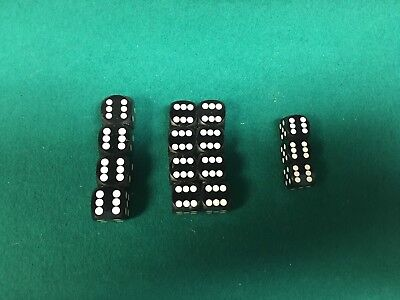 Polished Black Backgammon Dice