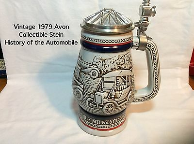 1979 Avon History of the Automobile Stein-Handcrafted In Brazil-item #3