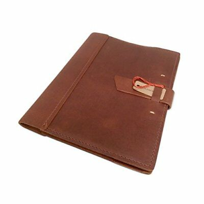 """Leather Composition Notebook Cover with College Ruled Insert 9 ¾"""" X 7 ½"""" Refi..."""