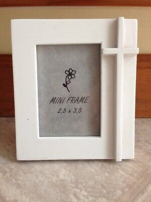 Baptism, Christening, White Photo Frame