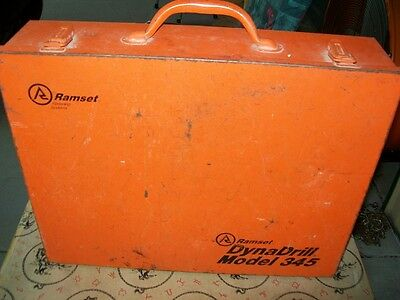 Ramset Dyna Drill Model 345 w/ case - 115 v -Electric- Used