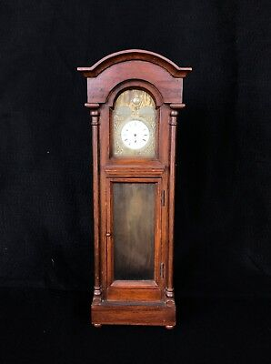 Antique Handcrafted Pocket Watch Tall Case Clock Circa 1930s