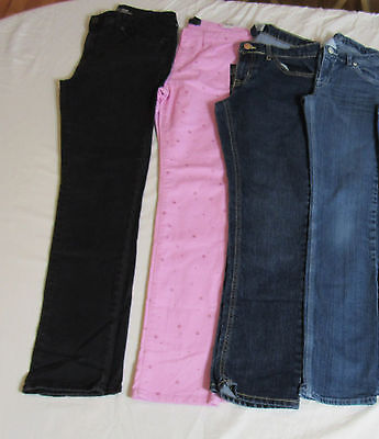 Lot of 4 Pair Girl's Jeans Size 14 : Gap Kids (NWT) Levi's Aeropostale : 7674