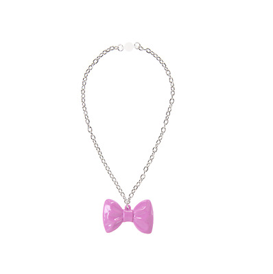 Gymboree NWT POSH & PLAYFUL bow chain necklace purple