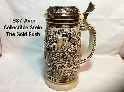 1987 Avon The Gold Rush Stein-Handcrafted In Brazil