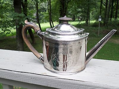 George III Silver Teapot, signed Henry Nutting, London, 1796