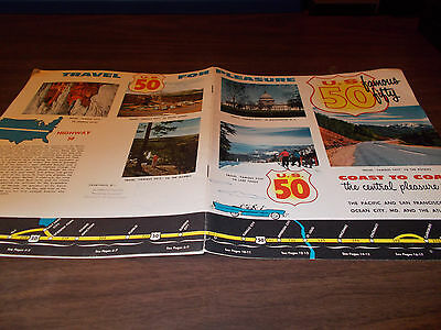1950s US 50 Coast to Coast 20-page Vintage Travel Booklet / Great Pictures/More