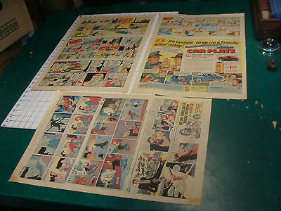Orig. Comics:  3 pages 6-25-1950 PETER RABBIT, DICK TRACY, GASOLINE ALLEY