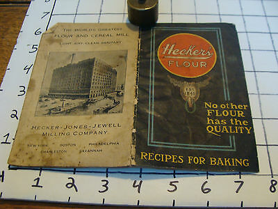 Vintage cookbook: HECKER'S FLOUR 18 pages, Early undated, stained.
