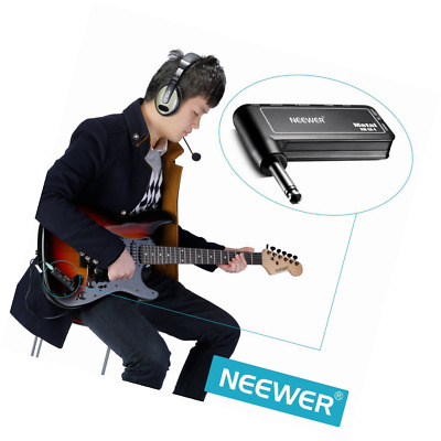Guitar Plug Amp Metal Effect Rechargeable Electric Headphone Amplifier Portable