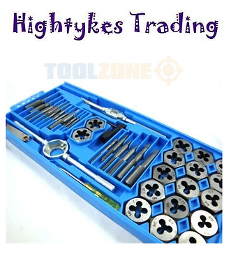 40PC Tap and die set metric imperial rethread carbon steel