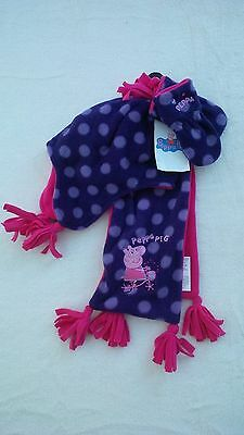 M&S Peppa pig three part purple mix set.Age 6 - 18 mths.RRP£14.00.New with tags.