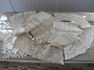 Antique Victorian 19th Century Hand Made Lace Lot