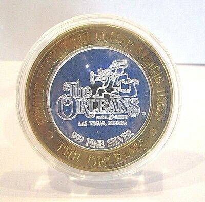 Limited Edition $10 Gaming Token The Orleans Casino Las Vegas .999 Silver