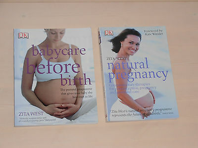 Zita West Baby books x 2. Babycare before birth & Natural Pregnancy.