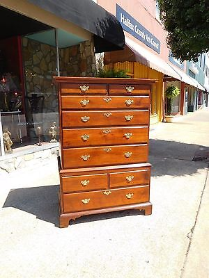 Outstanding Mahogany Chippendale Chest on Chest 18th Century