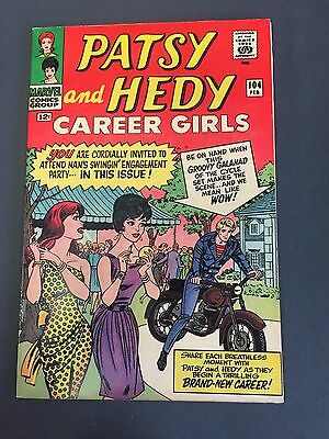 # 104 PATSY and HEDY CAREER GIRLS (1966 )  MARVEL TEEN COMIC BOOK - HIGH GRADE