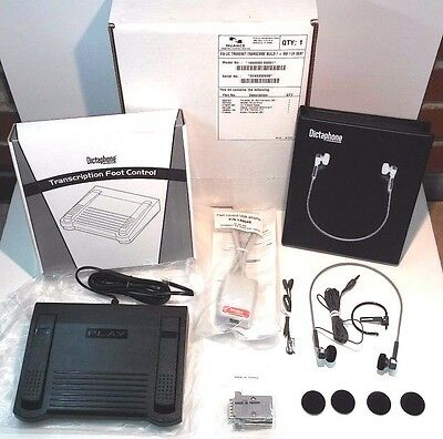 Nuance Dictaphone Kit w/ Footpedal, Headset, Adapters, and More