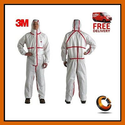 3M Biological Protective Coverall Safety Work Clothing Taped Seams 4565 XXL 2PK