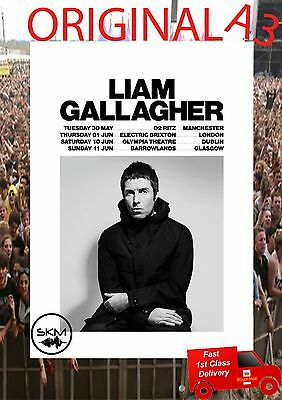 LIAM GALLAGHER As You Were 2017 UK Tour PHOTO Print POSTER  A3
