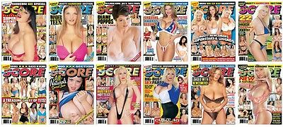 ELECTRONIC SCORE Adult Magazines 2003: Issues September - December x 12