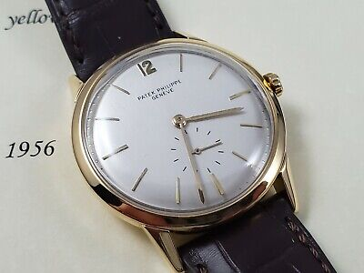 VERY RARE Patek Philippe 18k Vintage 2583 36mm 1956 Box/ARCHIVE PP Crown