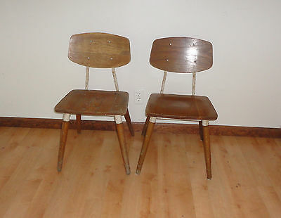 2 VTG Mid Century Modern Industrial Hill-Rom Chairs