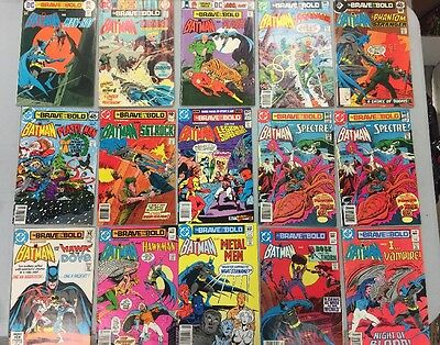 Lot Of 15 Brave And The Bold Starring Batman Comic Books 119 120 125 142 145 148