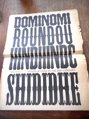 1965 Matrix 7 Typography Wood Letters In 20Th Century Specimen Fonts Newspaper