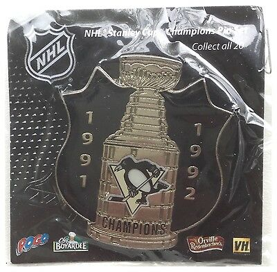 Pittsburgh Penguins NHL Stanley Cup Champions Collectible Pin Badge