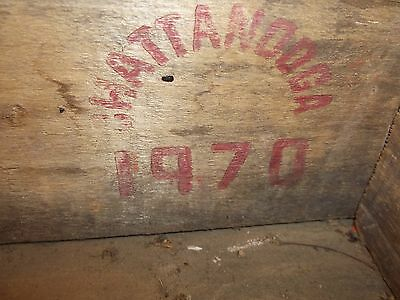 Wooden Coca Cola Slat Crate Box  Red - Chattanooga 1970