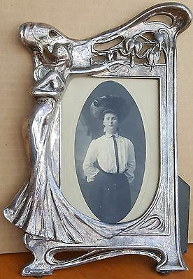 Art Nouveau Era Picture Frame With Photograph From A Hollywood Prop House