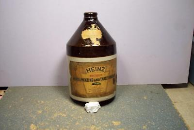 Antique H J Heinz White Pickling & Table Vinegar Stoneware Quart Jug, 1906